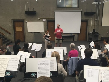 conducting workshop photo